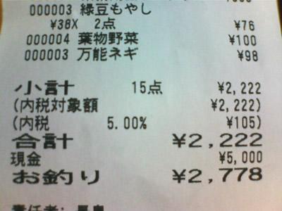 ¥2,222